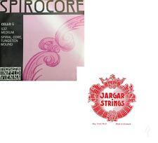 Spirocore Cello C,G  String  Tungsten  + Jargar A, D String 4/4 Forte