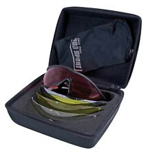 Pro Sport Shooting Safety Glasses 3 Interchangeable Lenses Black Yellow Clear