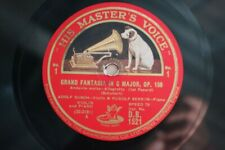 3 Disques 78 tours Schubert Grand Fantasia In C Busch, Serkin DB 1521/1523