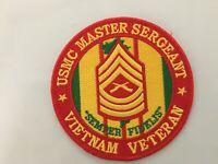 USMC MASTER SERGEANT VIETNAM VETERAN PATCH MEASURES 4 INCHES DIAMETER