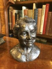 Bronzed Resin Bust : Her Majesty The Queen Mother : By Jill Tweed SIGNED Ltd