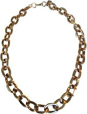 Yochi Chunky Polished Gold Plated Link Chain Necklace