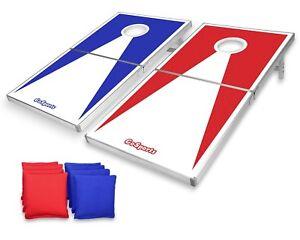 GoSports Regulation Size Cornhole Toss Set Includes 8 Bags Carry Case & Rule