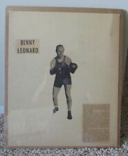 VINTAGE HOME MADE BOXING POSTER BENNY LEONARD MATTED & SHRINK WRAPPED