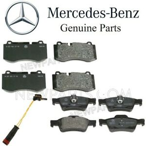 For Mercedes W221 S400 S600 Set of Front & Rear Brake Pads w/ Sensors Genuine