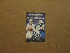 AFL Dallas Desperados Vintage Circa 2008 Logo Football Pocket Schedule