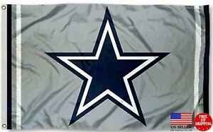 Cowboys Star FLAG 3X5 Dallas Banner American Football New Fast USA Ship.
