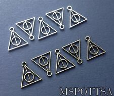 10 Piece Harry Potter Deathly Hallows Loose Charms Pendant Jewelry Silver Bronze