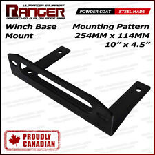 "Ranger Winch Base Fairlead Mount for Jeep Pickup Bumper or Flat Bed 10"" x 4.5"""