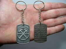 Pink Floyd The Wall Keychain Keyring Key Doble Sided Pendant Silver 013 FREE S.