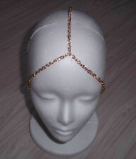 3 STRAND GOLD PLATED HEAD CHAIN HEAD PIECE HEAD JEWELRY BAND HEAD ACCESSORY