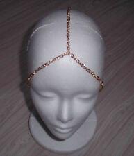 3 STRAND GOLD PLATED HEAD CHAIN HEAD PIECE HEAD JEWELRY BAND HEAD ACCESSORY