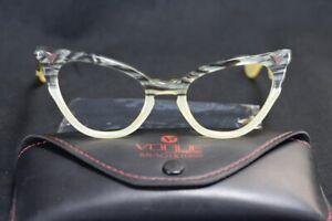 Vintage VOGUE Eyeglasses Sunglasses Frame Marbled Cat-Eye 1950s & Vogue B&L Case
