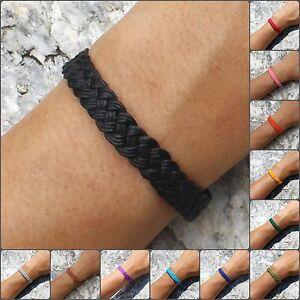 Handmade Wax Cotton Thai Wristband   Woven String Friendship Bracelet   Gift