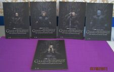 SET OF 5 GAME OF THRONES COLLECTABLE CARDS