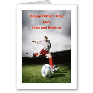 """Unique Personalised Typographic """"Football Theme"""" Father's Day Card Gift Unique"""