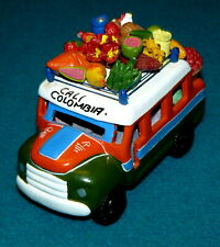 South American : FOLK ART : Hand Made FRUIT TRUCK Colombia DETAILED Painted CLAY