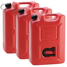 3x PROFI Kraftstoffkanister 20 L ROT Reservekanister Benzinkanister Kanister UN