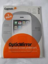 FOR iPHONE 3G 3GS MIRROR EFFECT SCREEN PROTECTORS CLEANING CLOTH 3 Pack NEW