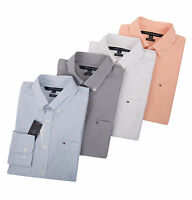Tommy Hilfiger Men Custom Fit Long Sleeve Button-Down Casual Shirt -$0 Free Ship