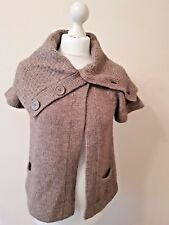 Top Shop Short Sleeved Chuncky Cardigan Brown - UK 8 (Age 10-12) Excellent Cond.