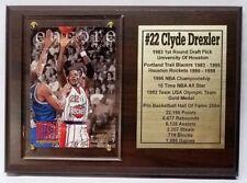 Houston Rockets Clyde Drexler Basketball Card Plaque