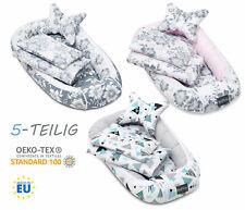Bellochi 5-tlg. Set NESTCHEN für Baby KOKON Kuschelnest KISSEN DECKE u. MATRATZE