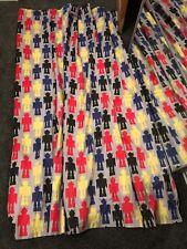 "Dunelm Boys Robot Pencil Pleat Curtains Blackout Lined New 66"" X 72"" 168 X 183"