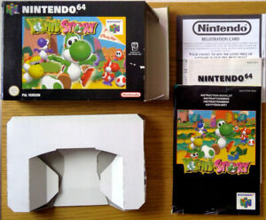Yoshi's Story Nintendo N64 box and instructions only PAL