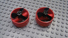 LEGO 2 Technic Cylinders 4x4 Pin Holes and Center Bar & Propeller 7665 8079 8285