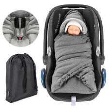 Universal Einschlagdecke für Babyschale Maxi-Cosi & Babywanne Thermo Fleece Grau