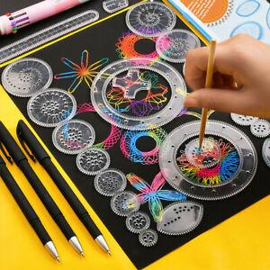 28Pcs Tin Draw Drawing Art Original Spirograph Design Set Craft Create Kids Toy
