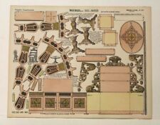 Pellerin Imagerie D'Epinal-No 191 Meubles Salles & Manger Grande Paper model