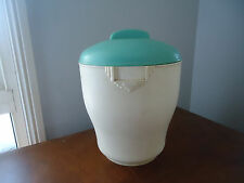 vintage art deco green & cream flour canister bristolite bakelite