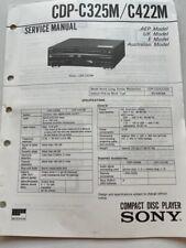 CDP-C325M / C422M original SONY Service Manual Schaltbid,
