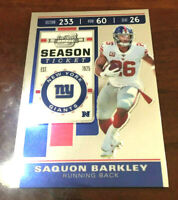 "2019 Contenders Optic Season Ticket #46 Saquon Barkley - New York Giants ""SWEET"""
