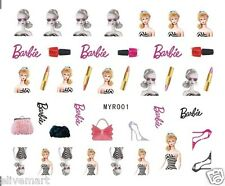 Wonderful Barbie Design Nail Art Stickers Barbie Girl Nail Decoration
