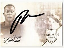 2018 Futera Unique Triumph On-Card Auto #42 Romelu Lukaku Belgium 5/20