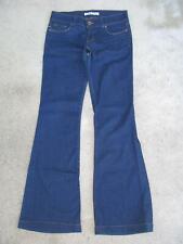 J Brand Bell Bottom Jeans Low Waist Flare Womens Sz 27 Dark Blue w Stretch L31