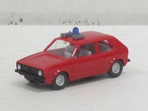 VW Golf I Einsatzleitwagen, ohne OVP, Wiking, 1:87, Feuerwehr