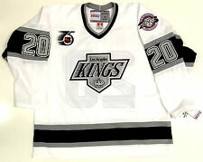 LUC ROBITAILLE LOS ANGELES KINGS 1991 NHL 75TH CCM VINTAGE WHITE JERSEY NEW