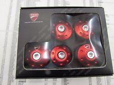 Ducati red billet alumunim frame plugs monster 821&1200 p/n 97380121a