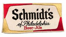 Vintage Schmidt's of Philadelphia Beer Uniform Back Hat Embroidered PatchNOS
