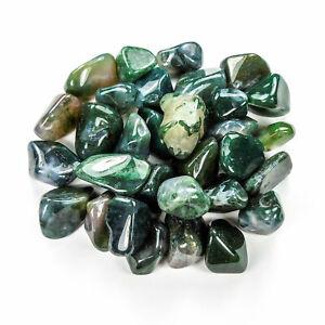 Bulk Wholesale Lot 1 LB - Moss Agate - One Pound Tumbled Polished Stones