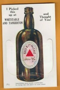 Kent- Whitstable & Tankerton- Beer.   Novelty Pull out  Postcard