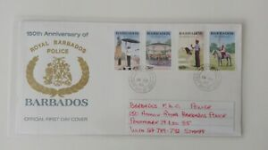 BARBADOS FIRST DAY COVER POLICE
