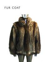 Vintage Women's Fur Coat, Col Brown, See measurements