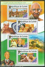 GUINEA 2015 100th ANN OF MAHATMA GANDHI'S RETURN TO INDIA SHEET MINT NH