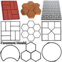 Floor Pavement DIY Garden Path Beton Brick Maker Cement Mould Concrete Molds
