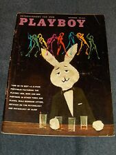 PLAYBOY MAGAZINE. NOVEMBER 1959. RARE AD CARDS STILL ATTACHED.